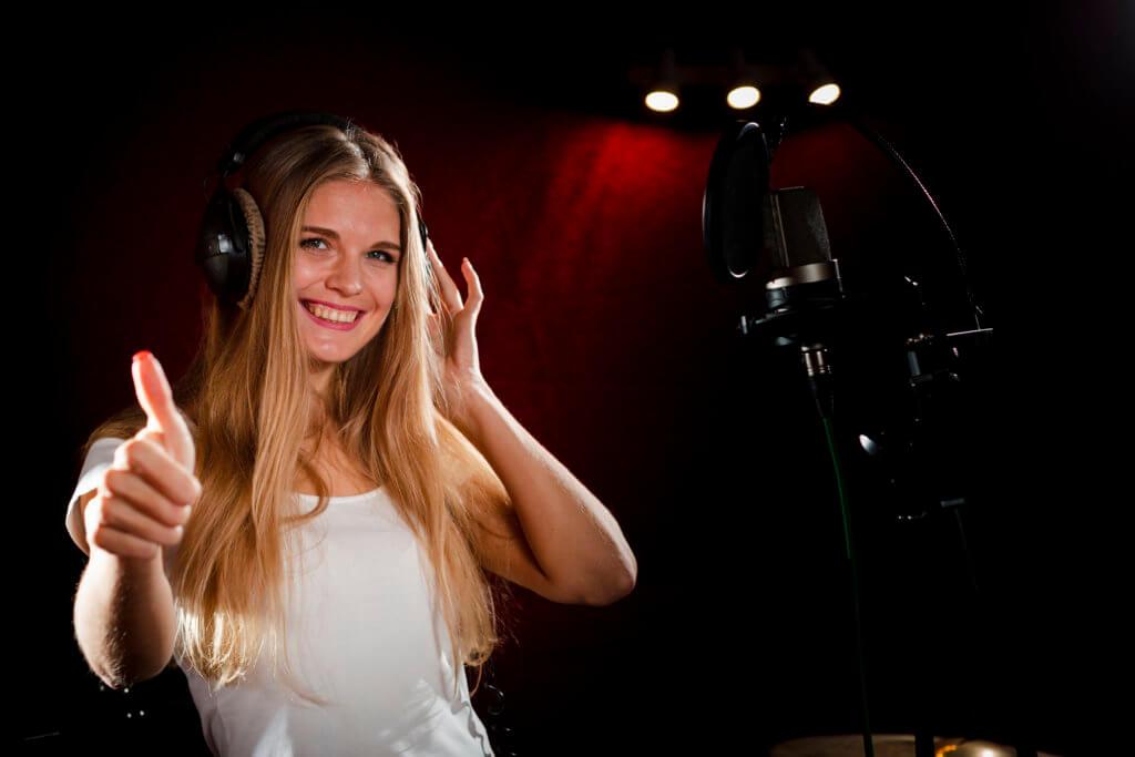 Female voice announcer