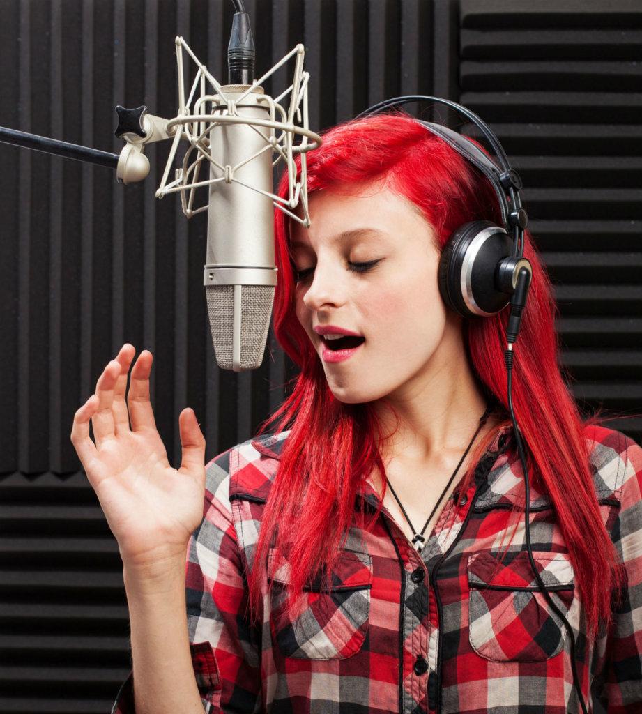 female announcer/singer