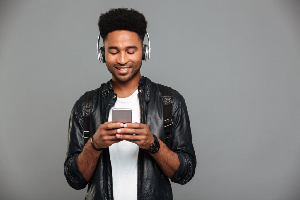 Male listening to something on his phone